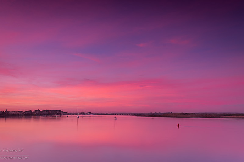 December Blue hour over Malahide Estuary - Malahide