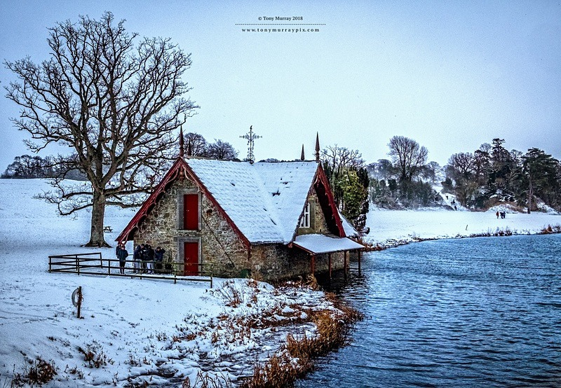 Winter Scene at the boat house - Carton House