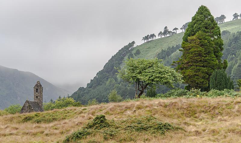 Misty morning in Glendalough - Glendalough
