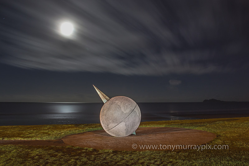 Moonlight at the Southern Cross Monument, Portmarnock Beach - Portmarnock