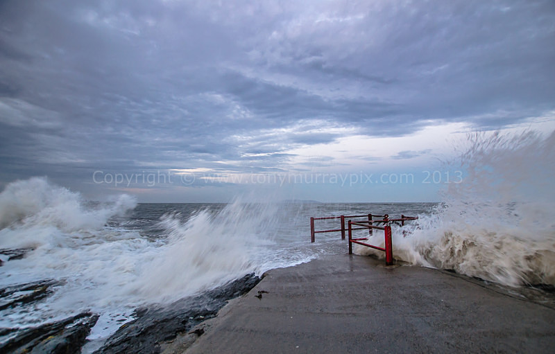 Wild waves at High Rock - Portmarnock