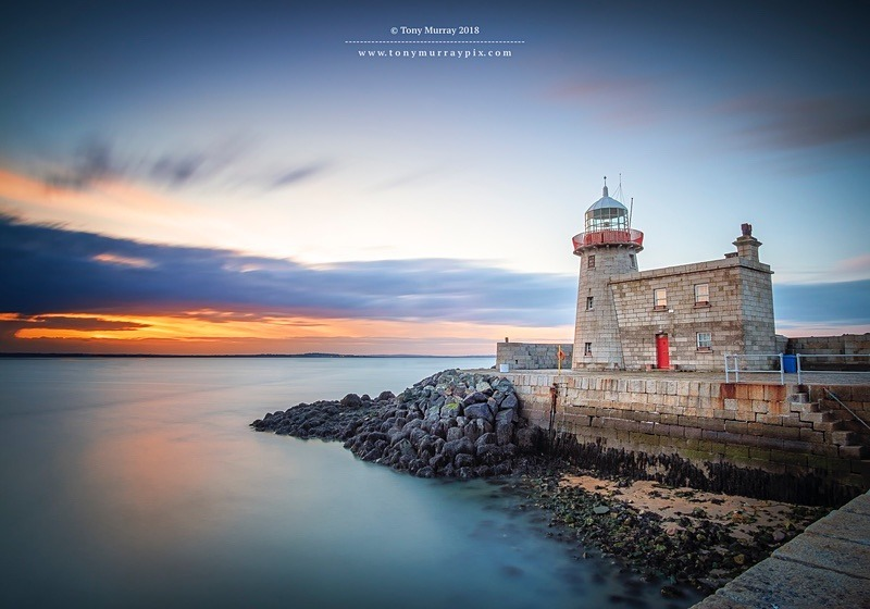 Howth Lighthouse Sunset - Howth