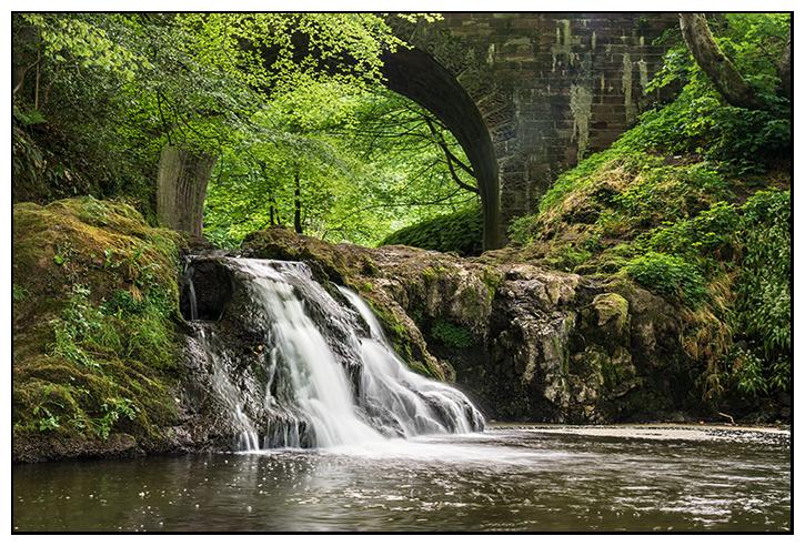 Arbirlot bridge & waterfall - Angus