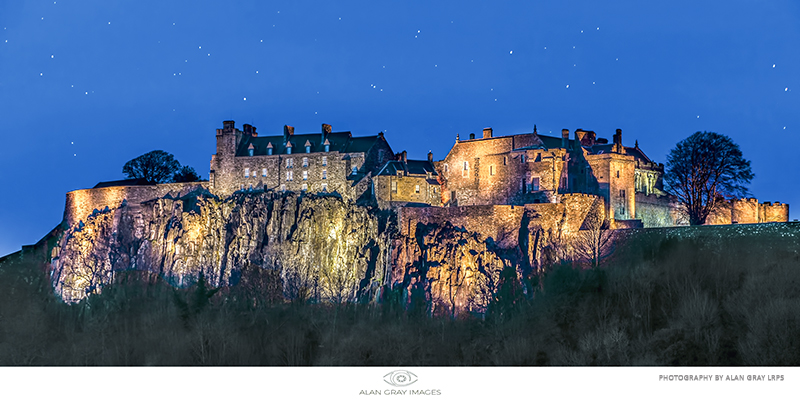 Stirling Castle under the stars - Clackmannan & Stirlingshire