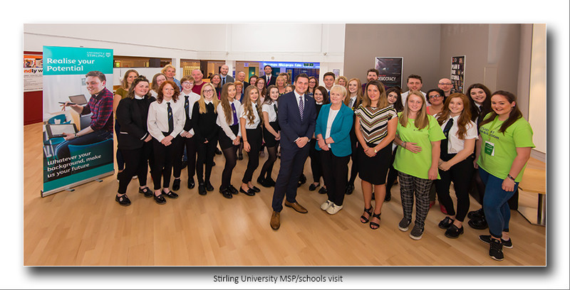 Stirling University schools/MSP visit - Commissioned Shoots