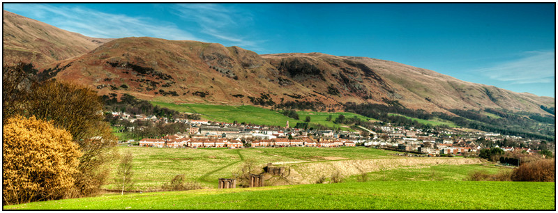 Tillicoultry Panorama west view - Clackmannan & Stirlingshire