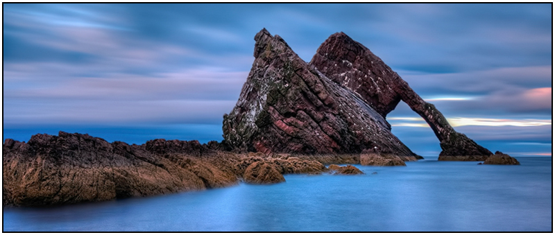 Bow fiddle Rock dusk - Moray
