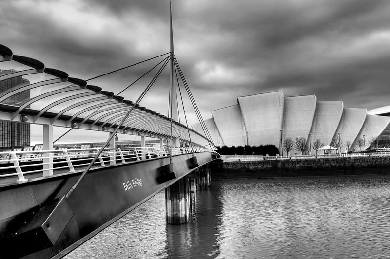 Bells Bridge Glasgow BW - Glasgow & strathclyde