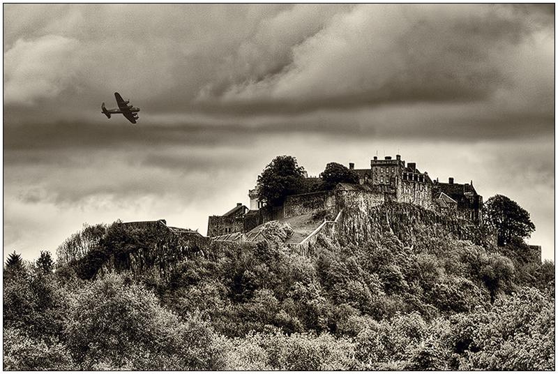 Stirling castle  lancaster bomber - Clackmannan & Stirlingshire
