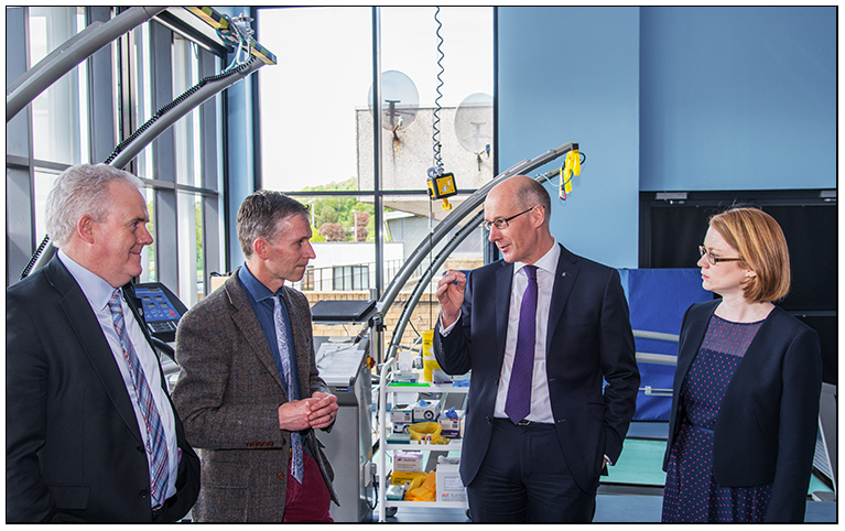 John Swinney MSP Stirling University Visit - Commissioned Shoots