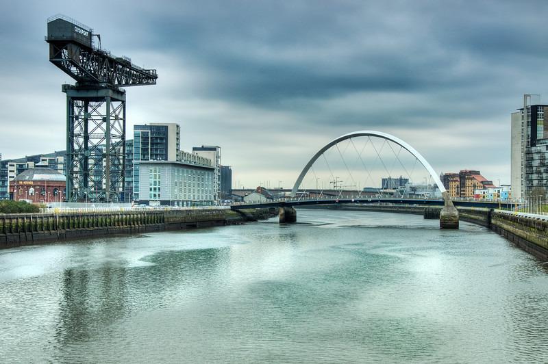Finnieston crane  squinty bridge 01 edit - Glasgow & strathclyde