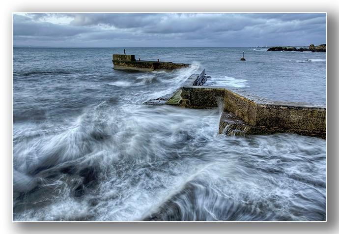 St Monans rough seas - Fife