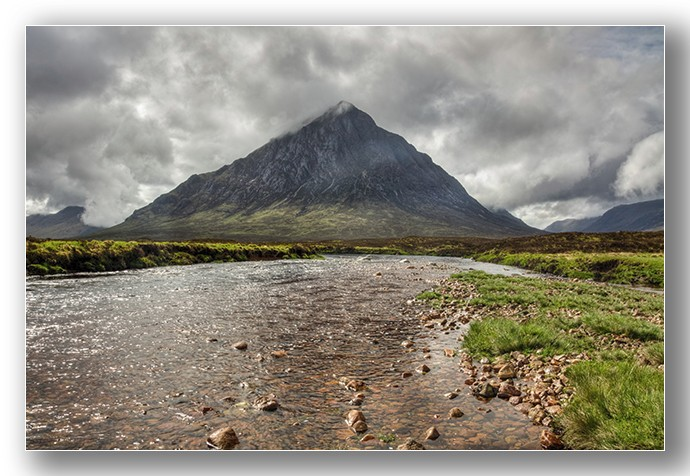 Buachaille Etive Mor from the river Etive - Highlands & Islands