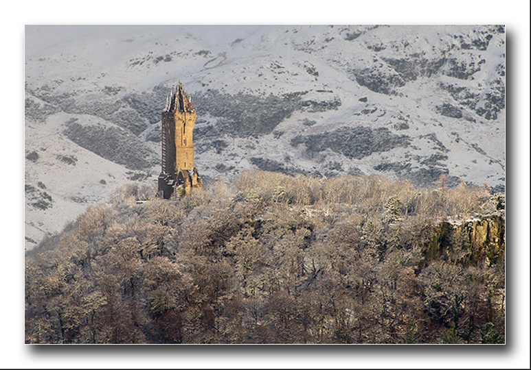 The National Wallace Monument (winter) - Clackmannan & Stirlingshire