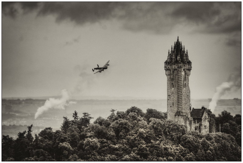 Wallace Monument  lancaster bomber - Clackmannan & Stirlingshire