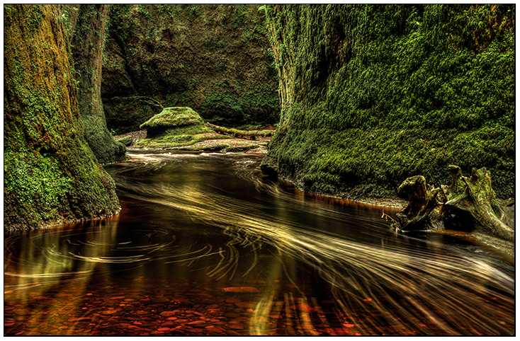 Finnich Glen, and the Devil's Pulpit. - Clackmannan & Stirlingshire