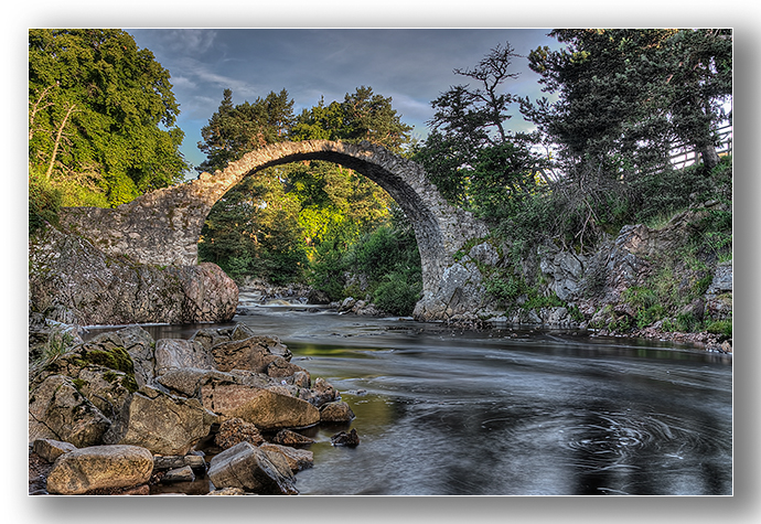 Old Pack horse bridge, Carrbridge, Cairngorms - Highlands & Islands
