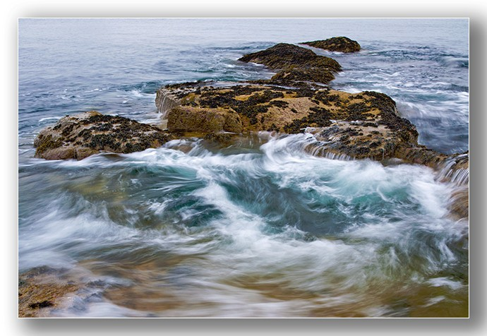 Seacliff rock pool swirls - Edinburgh & the lothians.