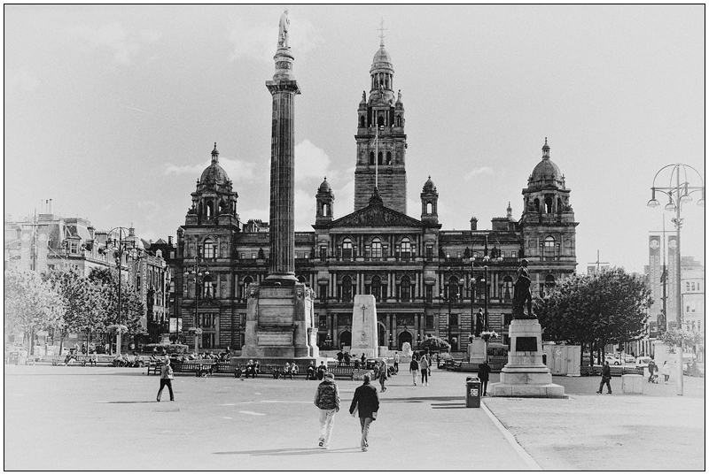 George Square BW - Glasgow & strathclyde