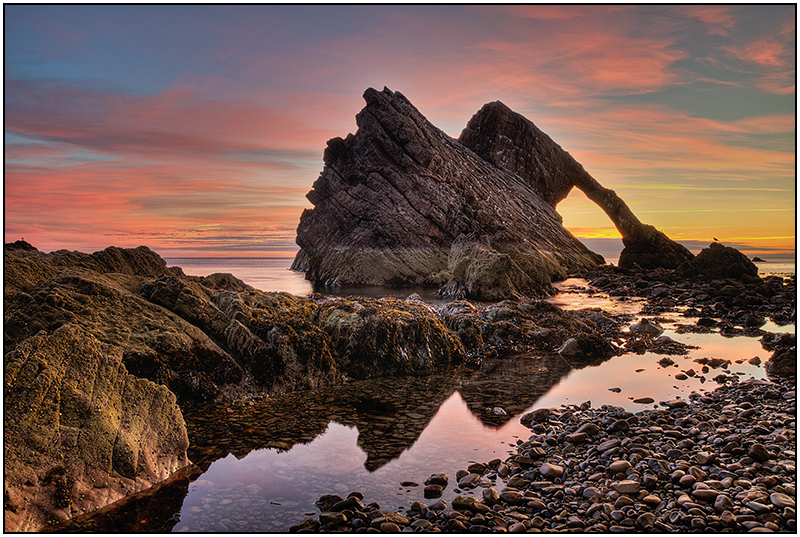 Bow Fiddle Rock Sunrise - Moray