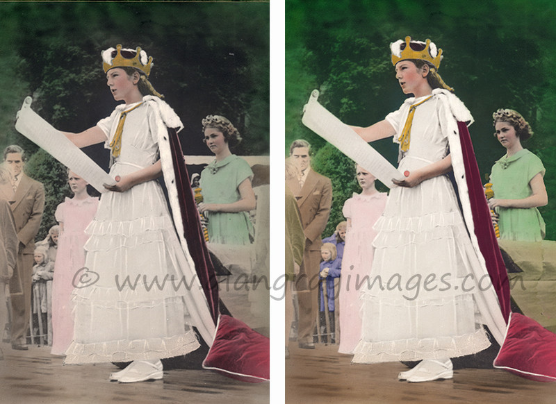 Margaret Cook Miss Alva Glen 1951 - Photographic restoration