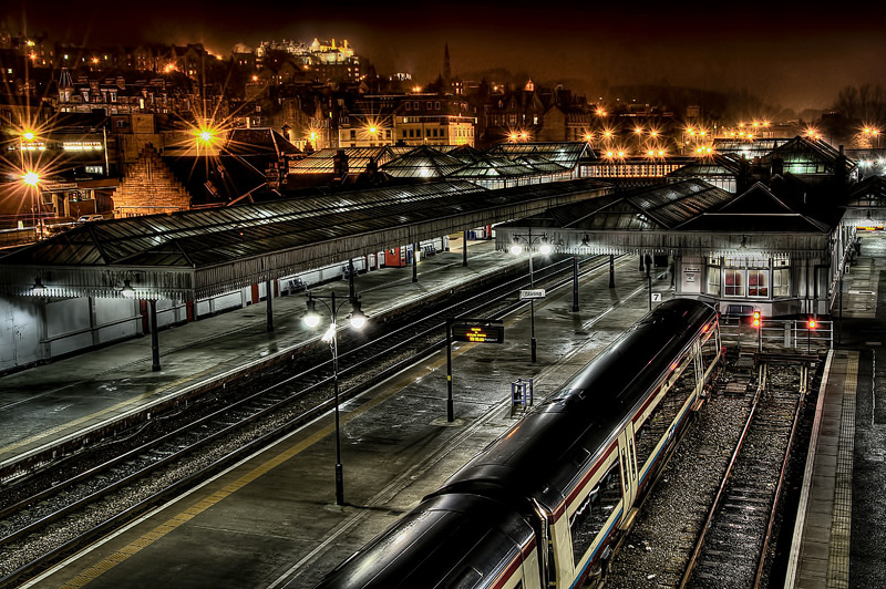 Train Station by Night - Clackmannan & Stirlingshire