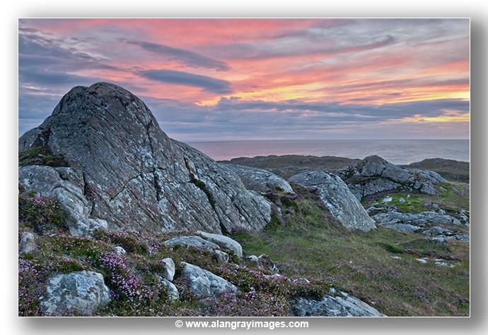 Scourie beg rock Sunset - Highlands & Islands