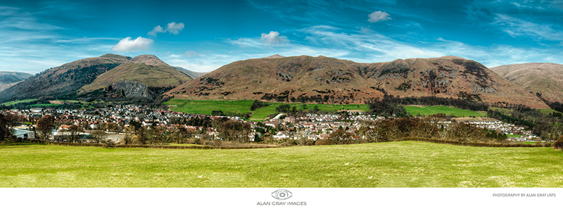 Tillicoultry Panorama east view - Clackmannan & Stirlingshire