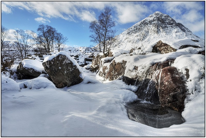 Buachaille Etive Mor from River Coupall falls - Highlands & Islands