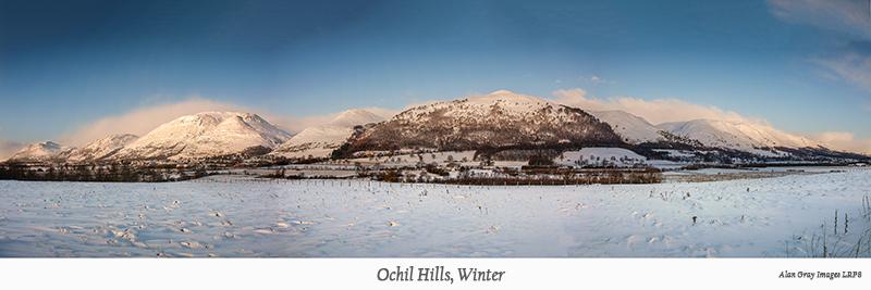 Ochils panorama winter - Clackmannan & Stirlingshire