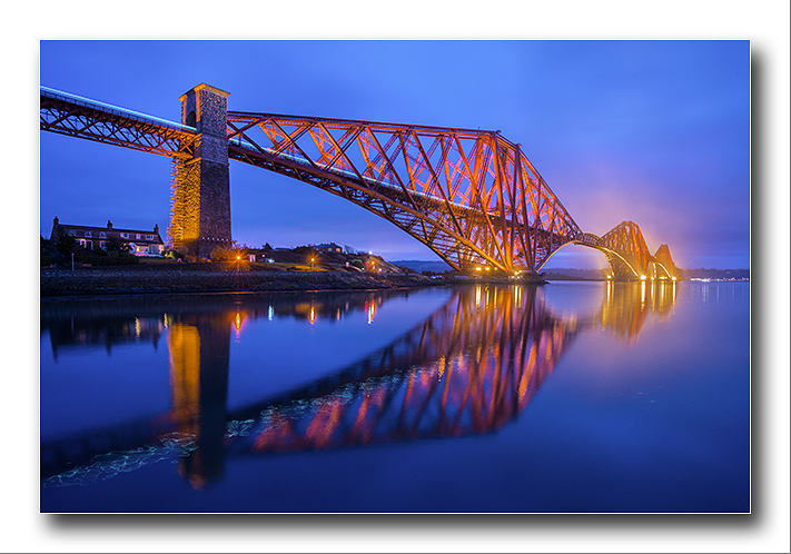 Blue Dawn at the Forth Rail Bridge North Queensferry - Fife
