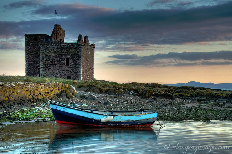 Evening light Portencross Castle  Ayrshire - Ayrshire