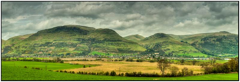 Alva panorama - Clackmannan & Stirlingshire