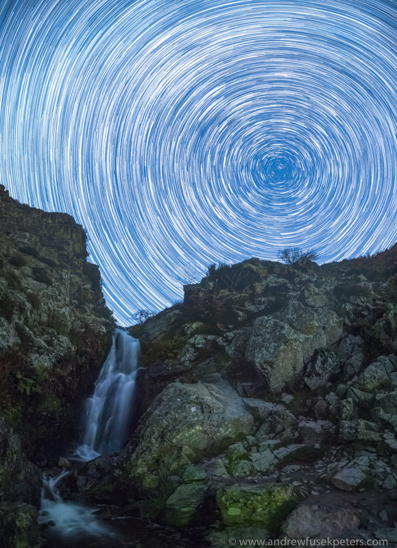 Journey of the Stars Lightspout Waterfall Long Mynd-1 - Stars, Star Trails and Milky Way