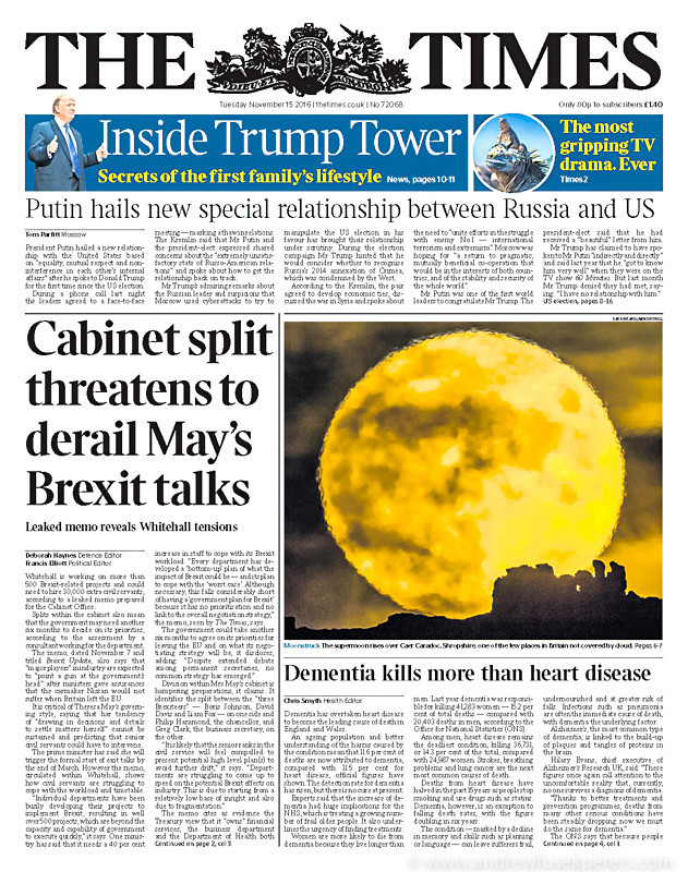 Supermoon on the front of the Times - Media & Awards
