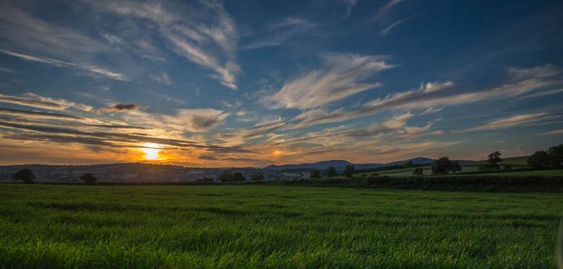 Lydbury North sunset - Wilderland, Wildlife & Wonder from the Shropshire Borders