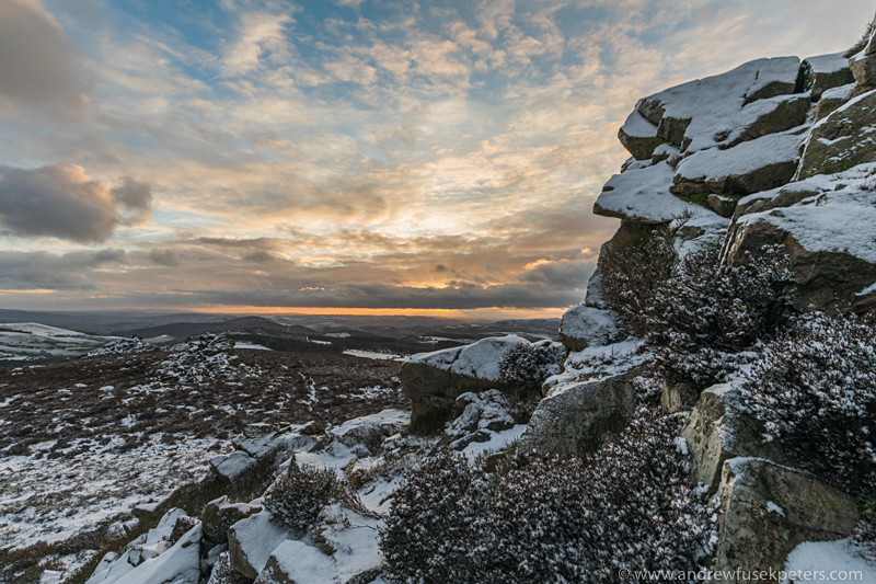 Winter sunset on The Stiperstones - Upland, Shropshire's Long Mynd & Stiperstones