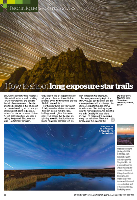 Amateur Photographer Milky Way feature October 2017-3 - Media & Awards