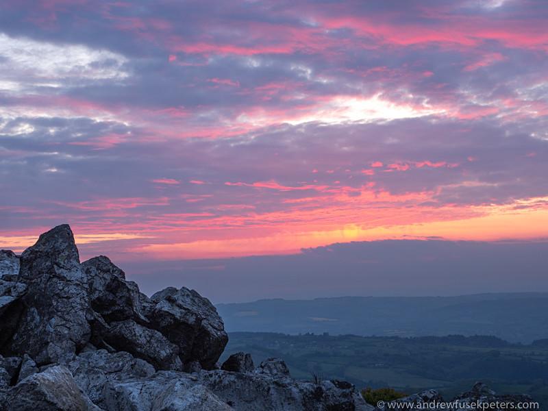 Devil's Chair at dusk, 2, Stiperstones - Olympus Landscape