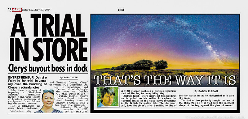 Irish Sun Milky Way Long Mynd Panorama - Sigma