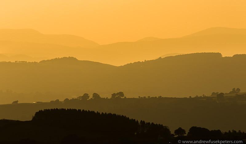 The far Welsh hills at sunset, Devil's Chair - Showcase
