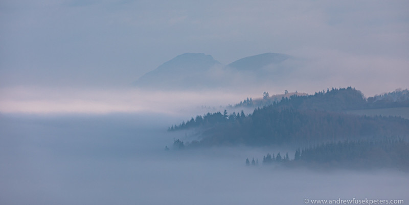Inverted mist in the Stretton valley - Showcase