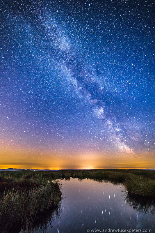 Milky Way at Pole Cottage Bog Pool, Long Mynd - Sigma
