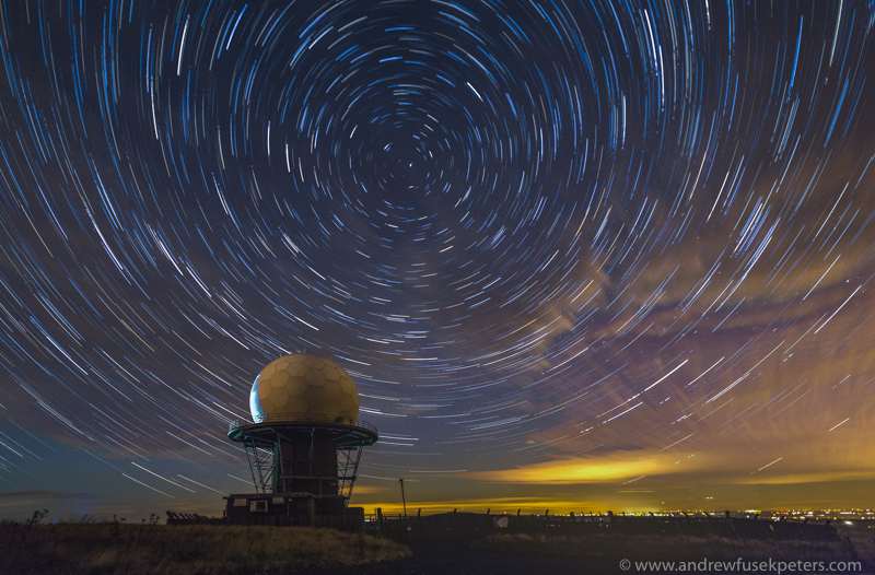 titterstone clee star trail - Stars, Star Trails and Milky Way