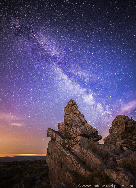Milky Way over Manstone Rock, Stiperstones - Upland, Shropshire's Long Mynd & Stiperstones