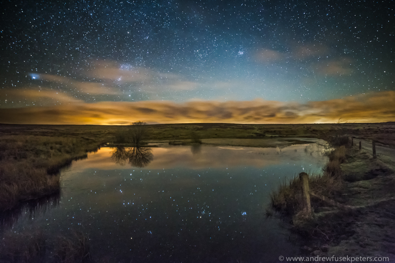 The stars reflected, Wildmoor Pool - Upland, Shropshire's Long Mynd & Stiperstones