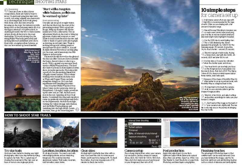Amateur Photographer Milky Way Feature October 2017-2 - Media & Awards