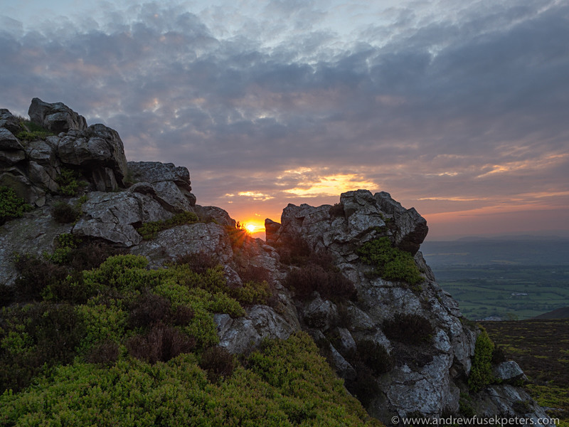 Devil's Chair at sunset, Stiperstones - Olympus Landscape