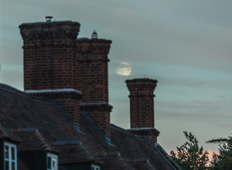 Full moon rising over Dudmaston Hall - Moon