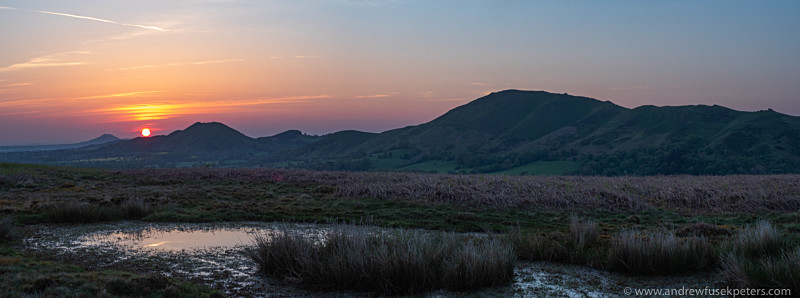 dawn panoroma from the Long Mynd on Novers Hill - Olympus Landscape
